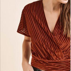 Velvet Wrap Top